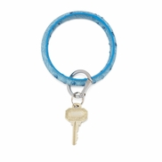 O-venture Big O Key Ring Peacock Ostrich