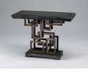 Optic Wood and Iron Side Table by Cyan Design