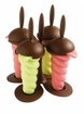Orka Frozen Ice Pop Molds - Brown Base
