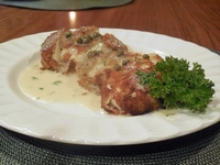 Panko-Crusted Chicken with Lemon-Caper Beurre Blanc, 5/8/14, 6pm