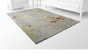 Parakeet Multicolor Rug Polyester 7.6'x5' by Cyan Design