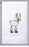 Patience Brewster Dash Away Tea Towel - Blitzen