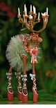 Patience Brewster Krinkles Dash Away Reindeer Dancer Figure