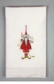 Patience Brewster Krinkles Dashing Santa Tea Towel