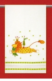 Patience Brewster Krinkles Joyful Lion Tea Towel