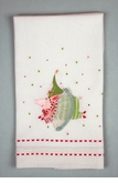 Patience Brewster Krinkles Joyful Pig Tea Towel