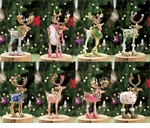 Patience Brewster Krinkles Reindeer Ornament Assortment (Set Of 8)