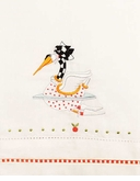 Patience Brewster Krinkles Swan Swimming Tea Towel