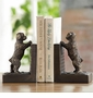 Perky Peeking Puppy Bookends by SPI Home