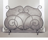 Pewter Firescreen with Mesh Screen Home Decor