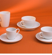 Pillivuyt French Porcelain Coffee Mugs and Cups