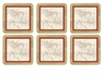 Pimpernel Chic Ornaments Coasters Set of 6