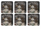 Pimpernel Chocolate Patisserie Coasters Set of 6