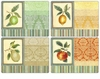 Pimpernel Couture Fruits Placemats Set of 4