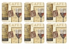 Pimpernel The French Cellar Coasters Set of 6