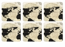 Pimpernel Vintage World Map Coasters Set of 6