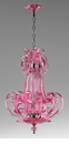 Pink Florence Glass Pink Chandelier by Cyan Design