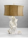 Plaster Driftwood White Table Lamp by Cyan Design
