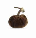 "Plush Pumpkin 4"" Decorative Pumpkin - Acorn"