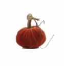 "Plush Pumpkin 4"" Decorative Pumpkin - Apricot"