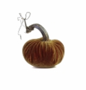 "Plush Pumpkin 4"" Decorative Pumpkin - Curry"