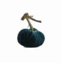 "Plush Pumpkin 4"" Decorative Pumpkin - Peacock"