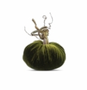 "Plush Pumpkin 4"" Decorative Pumpkin - Sage"