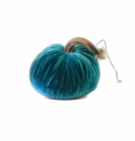 "Plush Pumpkin 4"" Decorative Pumpkin - Turquoise"