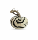 "Plush Pumpkin 4"" Decorative Pumpkin - Zebra Black"