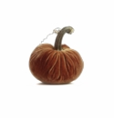 "Plush Pumpkin 6"" Decorative Pumpkin - Spice"