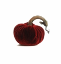 "Plush Pumpkin Cherry 8"" Plush Decorative Pumpkin"