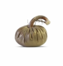 "Plush Pumpkin Gold Chevron 8"" Plush Decorative Pumpkin"
