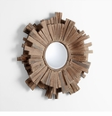 Polk Walnut Mirror by Cyan Design