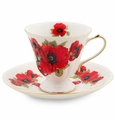 Poppy Porcelain Tea Cup & Saucer Set