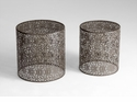 Portman Cylindrical Iron End Tables by Cyan Design