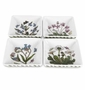 Portmeirion Botanic Garden Square Mini Dishes (Assorted Set of 4)