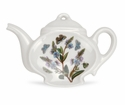 Portmeirion Botanic Garden Teapot Shaped Tea Bag Holder or Spoon Rest