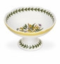 Portmeirion Botanic Garden Terrace Scalloped Footed Candy Dish, Yellow Jasmine Yellow