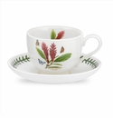 Portmeirion Exotic Botanic Garden Red Ginger Teacup & Saucer