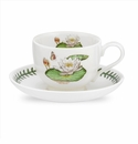 Portmeirion Exotic Botanic Garden White Water Lily Teacup & Saucer