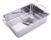Progressive Stainless Steel Deep Dish Roasting Pan Set