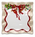 "Q Squared Holiday Ruffle 14"" Square Platter"