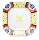 Q Squared Montecito Blue 11 Border Dinner Plate