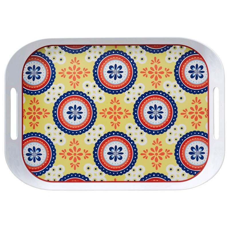 Q Squared Montecito Blue 19.5 X 14 Large Tray $23.1, You
