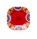 Q Squared Montecito Red 5.5 Tile Appetizer Plate