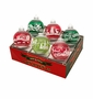 Radko Shiny Bright Splendor 6Ct Flocked Ornament Set