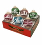 Radko Shiny Bright Winter 6Ct Flocked Ornament Set
