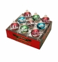 Radko Shiny Bright Winter 9Ct Flocked Ornament Set