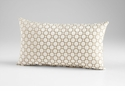 Raindrops Taupe Decorative Pillow by Cyan Design