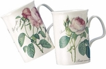 Redoute Rose (Lancaster) Bone China Mug - Roy Kirkham